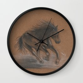 Horse Running Wall Clock