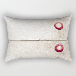 Four on Gray Rectangular Pillow