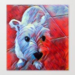 The WESTIE from our POP YOUR POOCH line Canvas Print