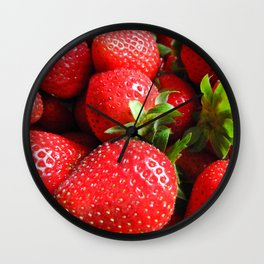 Abstract Strawberry Art Wall Clock