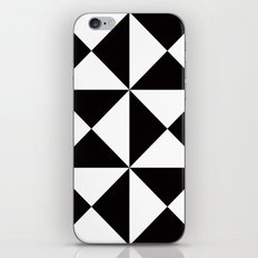 B/W triangle X4 pattern iPhone & iPod Skin