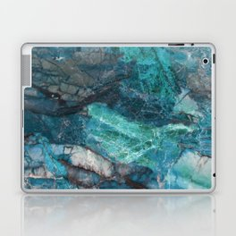Cerulean Blue Marble Laptop & iPad Skin