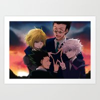 hunter x hunter Art Prints featuring Hunter x Hunter: Forever by akayashi