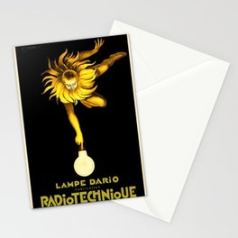 Vintage Radiotechnique Poster by Leonetto Cappiello Stationery Cards