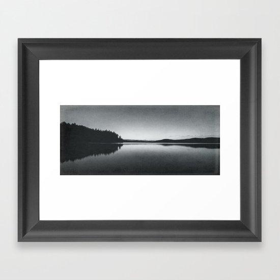 steely evening Framed Art Print