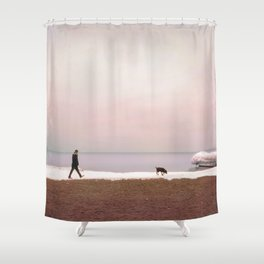 Winter at Lake Ontario Shower Curtain