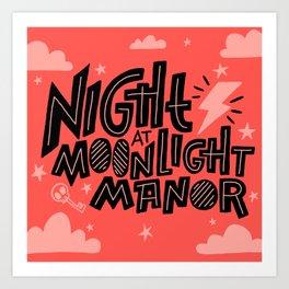 Night At Moonlight Manor Art Print