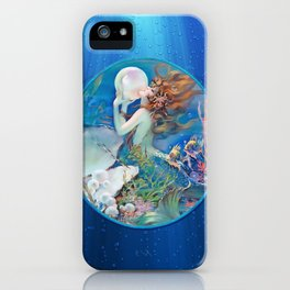 Sensual Art Deco Pearl Mermaid iPhone Case