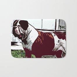 American Bulldog Bath Mat