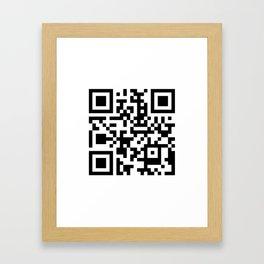 QR Code Framed Art Print