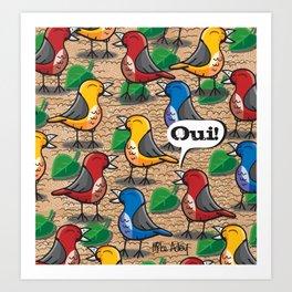 The birds of Jardin du Luxembourg Art Print