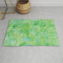 Watercolor abstract green color no.21 Rug
