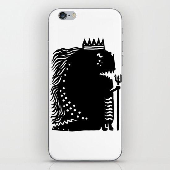 Black king iPhone & iPod Skin