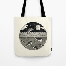 Convening on the Full Moon Tote Bag
