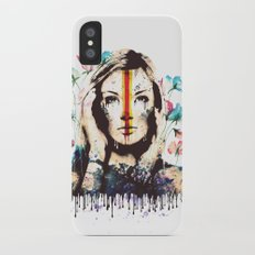 Drips of color iPhone X Slim Case