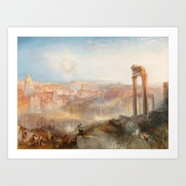 William Turner - Modern Rome Campo Vaccino Art Print