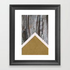 Wooded Chevron Framed Art Print