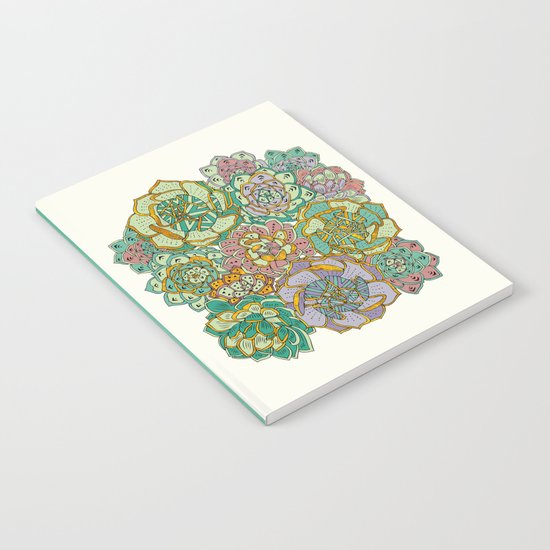 Blooming Succulents Notebook