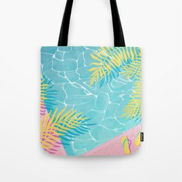 Tropical pool chill Tote Bag