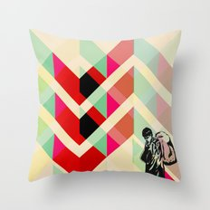 Ian Curtis from Joy division Throw Pillow