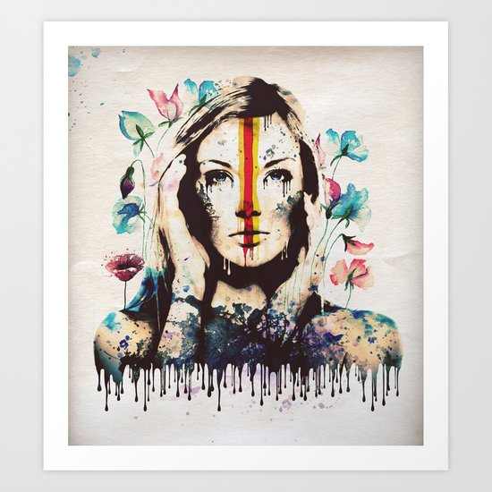 Drips of color Art Print