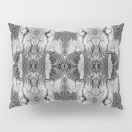 B&W Open Your Eyes Patterned Image Pillow Sham