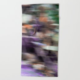 Fast in Flight - A Colorful Abstract Motion Blur Beach Towel