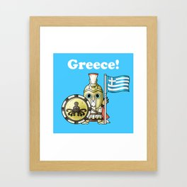 Greekcat Blue Framed Art Print