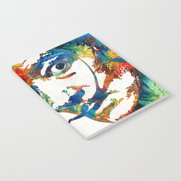 Colorful Dali Art by Sharon Cummings Notebook