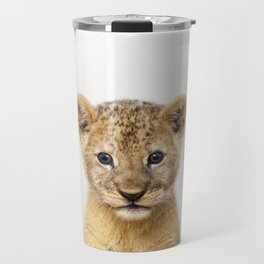 Baby Lion, Baby Animals Art Print By Synplus Travel Mug