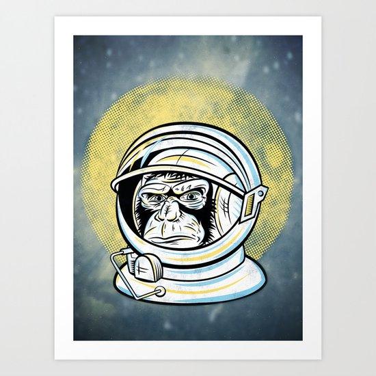 Space Ape Art Print