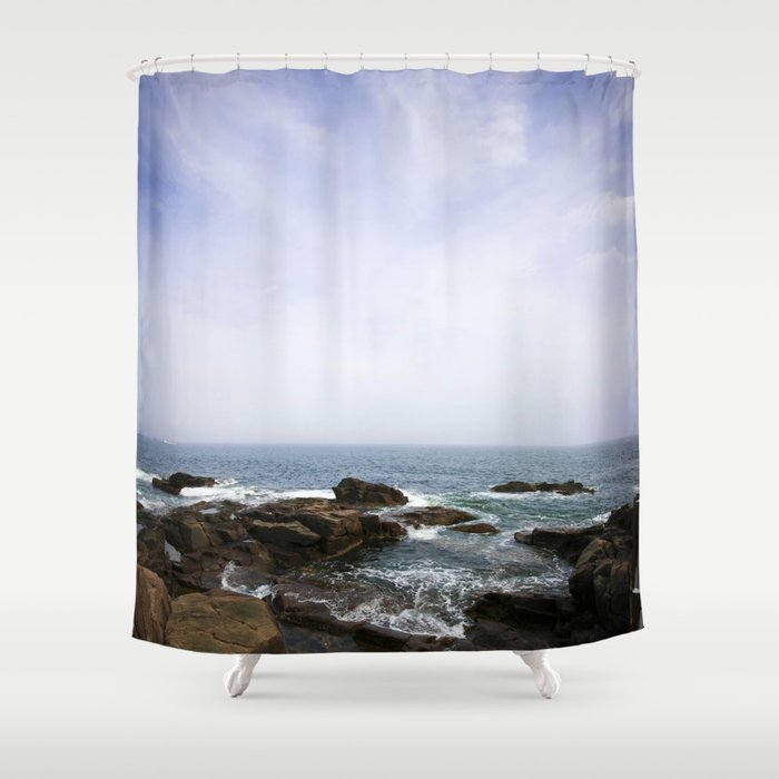 Acadia View - Ocean Scene Shower Curtain by jeanladzinski | Society6