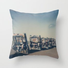 Cadillac Ranch - Route 66 Throw Pillow