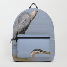 Great Blue Heron Fishing - II Backpack