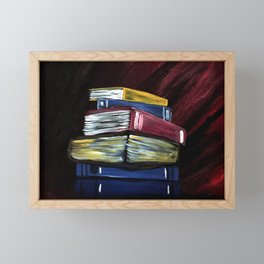 Books Of Knowledge Framed Mini Art Print