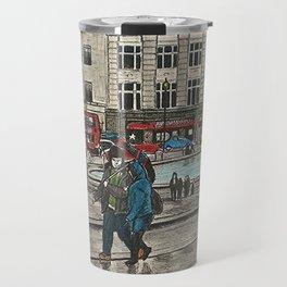 Walking in Trafalgar Square Travel Mug