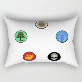 Realistic MTG Symbols Rectangular Pillow