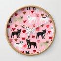 French Bulldog love hearts valentines day custom dog pet portrait pet friendly dog breeds by petfriendly