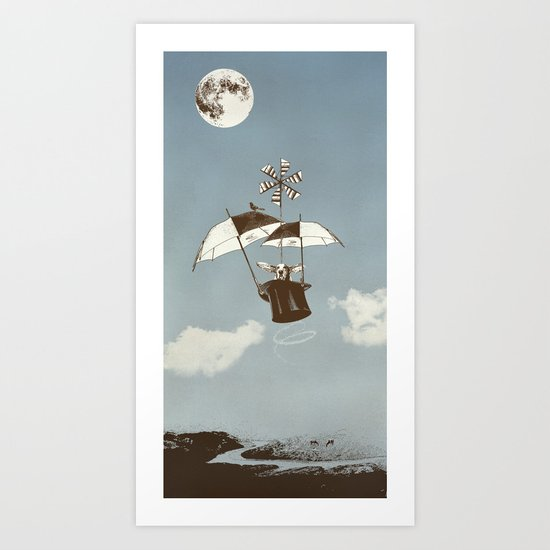 Over the Amazon to the Moon Art Print