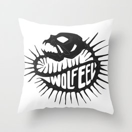 Wolf Eel dark Throw Pillow