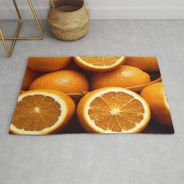 Oranges Piled Up Rug