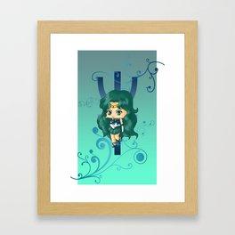 Sailor Neptune Framed Art Print