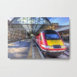 Virgin Train Kings Cross Station Metal Print