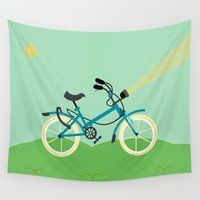 bike Wall Tapestries featuring Bike  by Hellionic