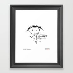[happy mommy] - nadya 4 yr Framed Art Print