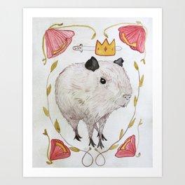 Capybara Prince Art Print