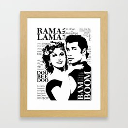 Grease Framed Art Print