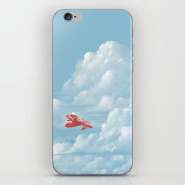 Porco Rosso flying iPhone Skin