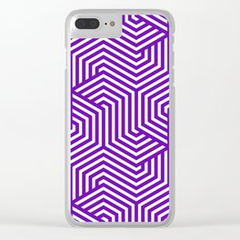 Purple - Minimal Vector Seamless Pattern Clear iPhone Case