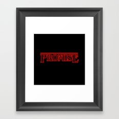 Stranger Things Promise Framed Art Print